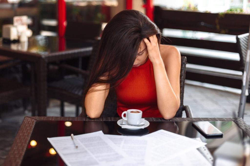 woman handles stress