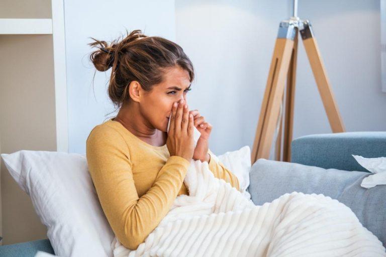 cold flu woman