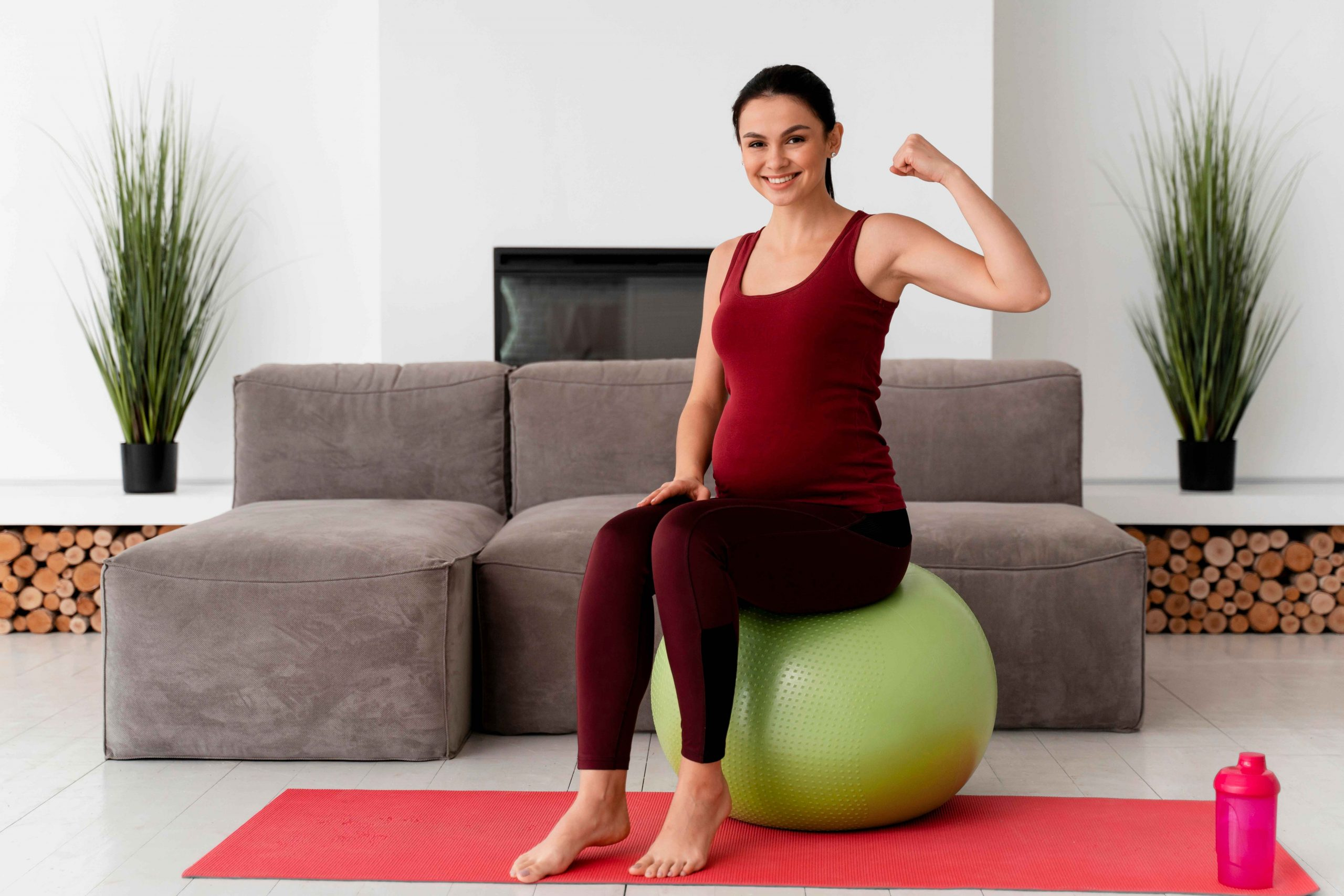 healthy strong pregnant woman